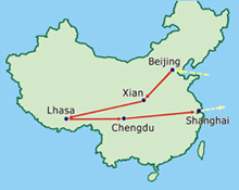 China tours including Lhasa, Tibet Train Travel