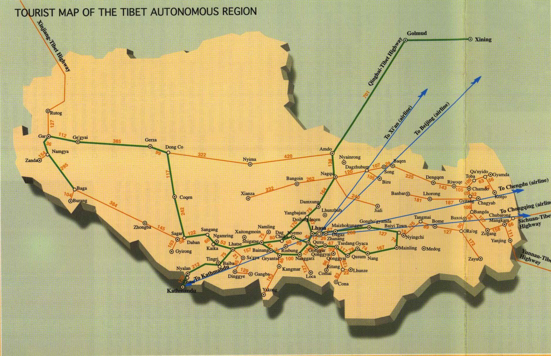 Map Tibet